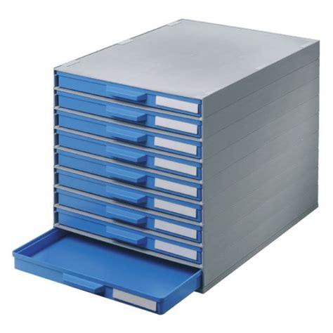 bloc tiroirs plastiques 9 plateaux tiroirs pm a4 bleu