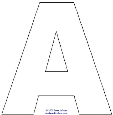 outline capital a printable graduation crafts a alphabet coloring and colors