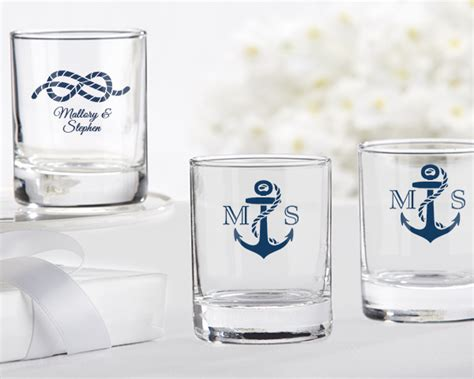 Custom Color Sparkly Glass Votive Nautical Theme Personalized Glass Or Votive Holder