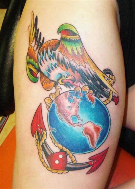 globe tattoo online help eagle globe anchor tattoos tattoo collection