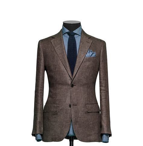 tailored 2 piece suit fabric 7705 houndstooth brown tailored 2 piece suit fabric 7735 houndstooth brown