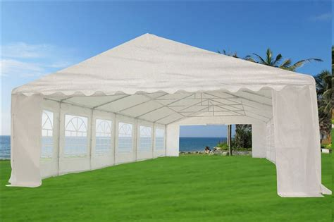 canopy tent with awning 20 x 40 heavy duty white gazebo canopy tent