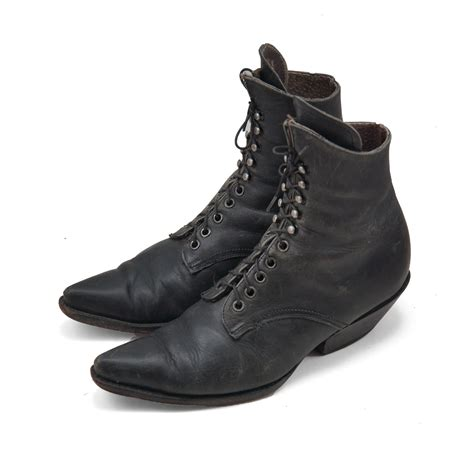 witch boots black leather witch boots in lace up boot styling for