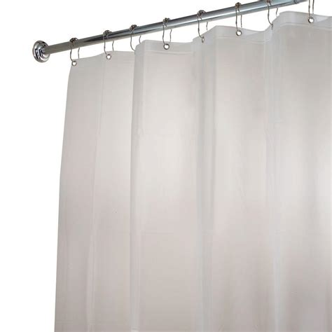 stall shower curtain liner interdesign eva stall size shower curtain liner in clear