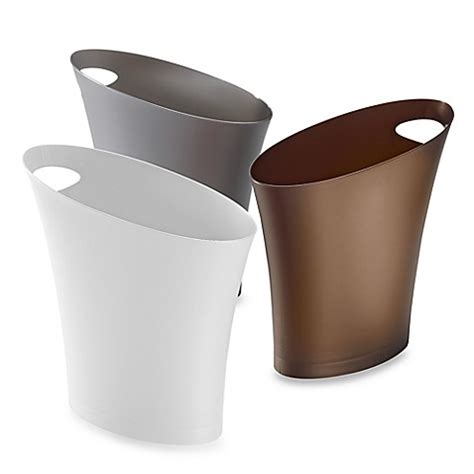 bathroom waste baskets umbra 174 skinny 7 3 4 qt wastebasket bed bath beyond