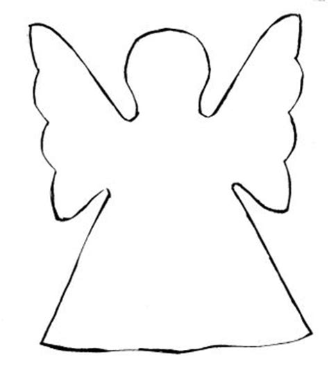 printable paper angel template simple standing three d paper angel video how to these