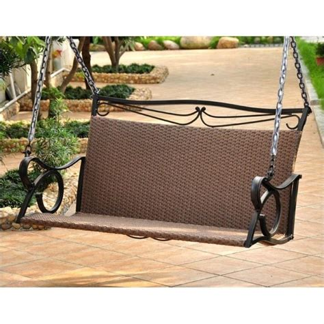 loveseat swing outdoor international caravan lisbon loveseat porch swing in