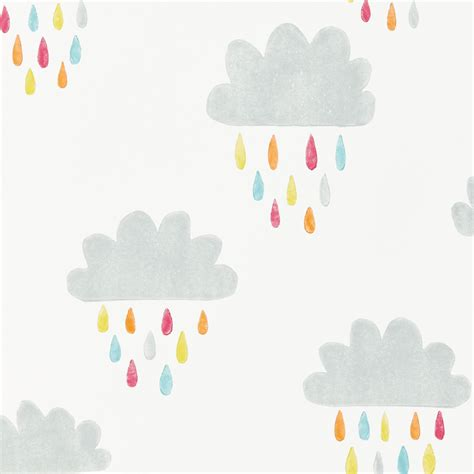 scion wallcovering scion april showers wallpaper cloud with raindrops