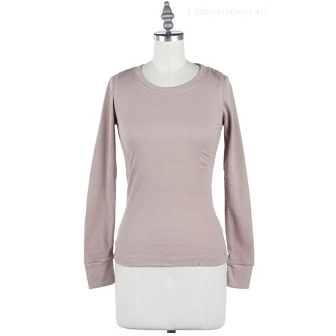 Ola Basic Knitted Crew Neck Top basic thermal crew neck sleeve knit top casual cotton stretchable s m l