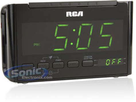 rca rc dual wake amfm clock radio sonic electronix