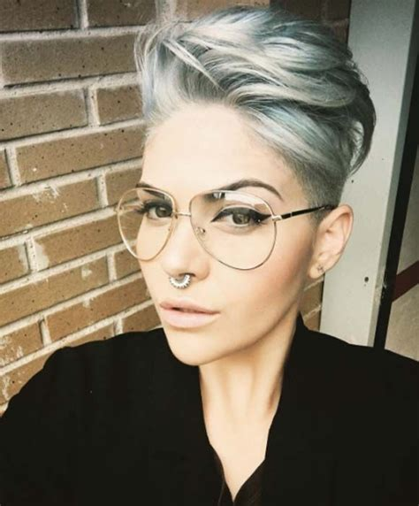 side shaved pixie cut hair pinterest short pixie 100 top pixie haircuts of all time asymmetrical pixie