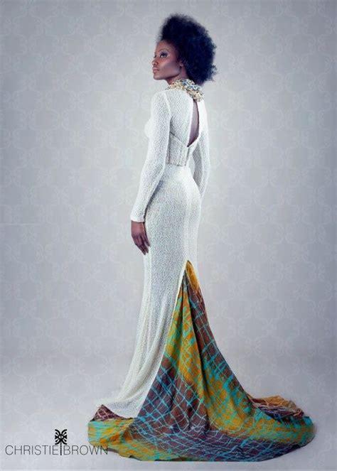 pattern white wedding dress wow african inspired ankara wedding gown african print