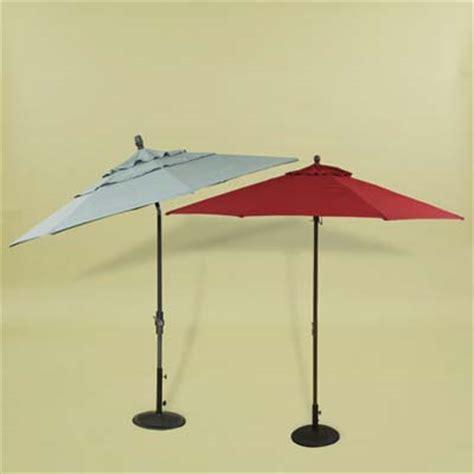 Side Patio Umbrella by Luxury Vs Bargain A Side By Side Look Patio Umbrellas