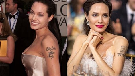 angelina jolie tattoo billy bob removed who got their embarrassing tattoos removed