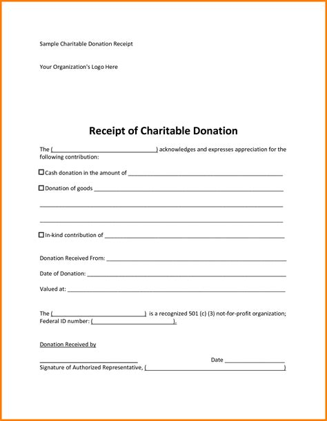 In Donation Receipt Template For Clothes Closet by Receipt Donation Receipt Form