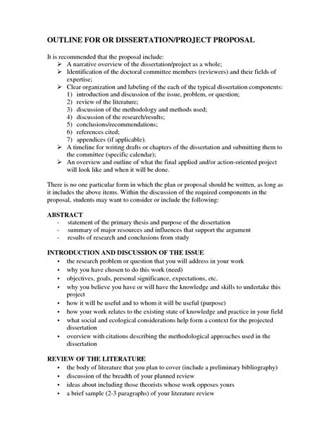 dissertation outline format best photos of dissertation outline exle thesis