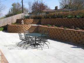 backyard wall lovely retaining wall around patio from brown