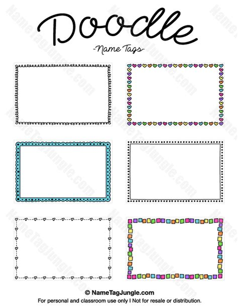 free like doodle free printable doodle name tags the template can also be