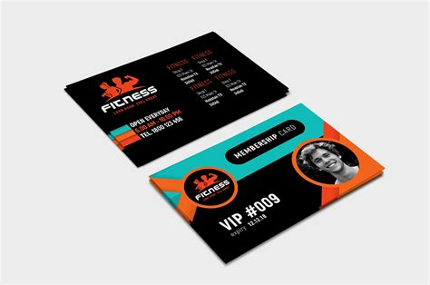 Membership Card Template Illustrator by Fitness Membership Card Template In Psd Ai Vector