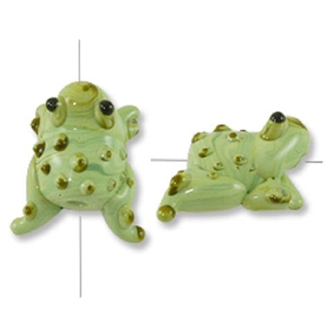 lwork glass frog bead 20x18mm