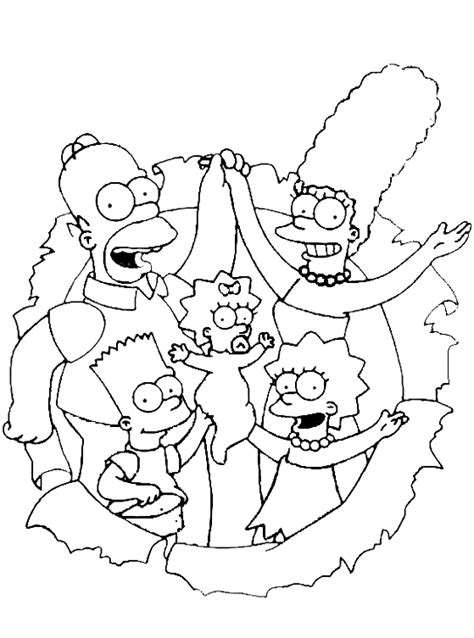 coloring pages of the simpsons christmas i simpson famiglia simpson