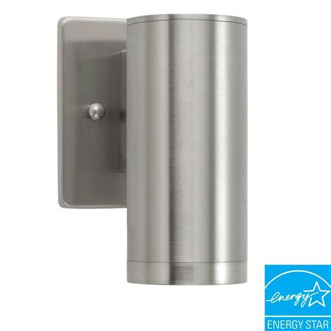 stainless steel outdoor light fixtures eglo riga 1 light stainless steel outdoor wall mount