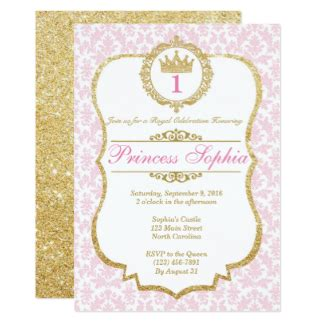 Princess Theme Wedding Invitations by Princess Birthday Invitations Announcements Zazzle