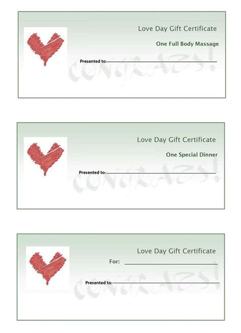 28 create your own gift certificate template free