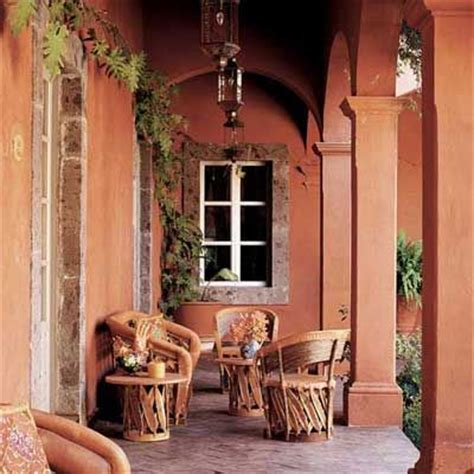hacienda orange interior design style homes and courtyard