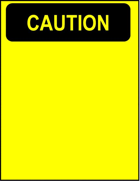 caution blank page frames full page signs caution blank