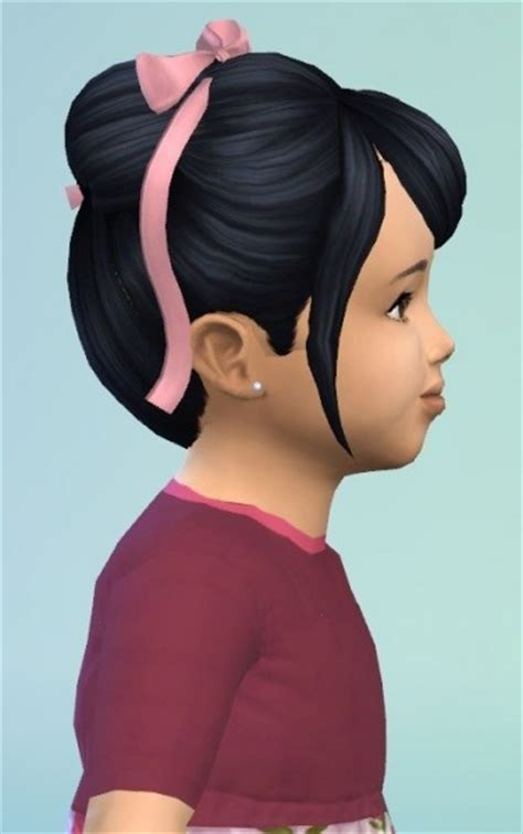 big bow hair accessory at jenni sims 187 sims 4 updates sims 4 content hair bow sims 4 hairs birksches sims blog