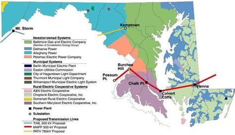 map of maryland electric utility maryland utility map bnhspine