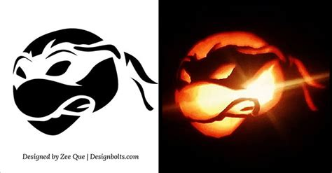 tmnt pumpkin template 10 free scary cool pumpkin carving stencils