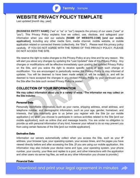 business privacy policy template business privacy policy template 28 images business