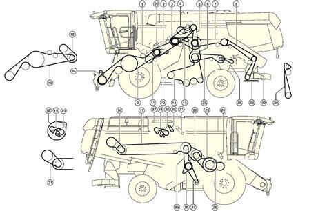 combine harvester parts diagram combine harvester claas lexion 580 drive layout of belts