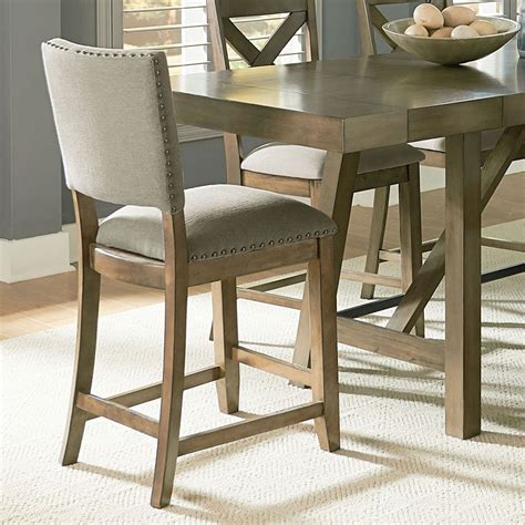 counter height upholstered chairs omaha upholstered counter height chair grey set of 2