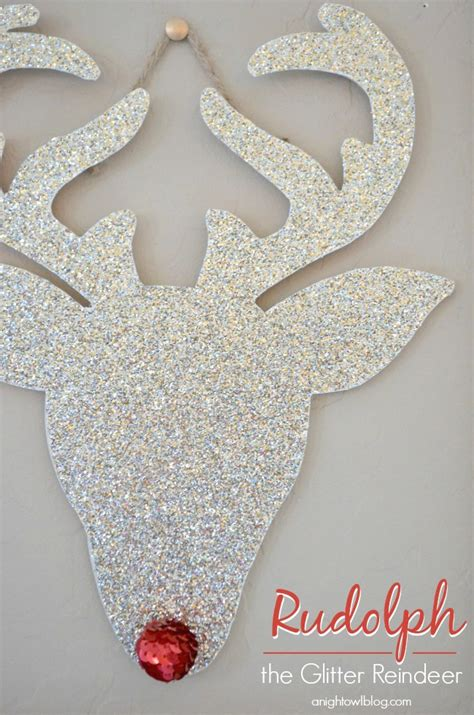 Large Party Dinner Ideas - rudolph the glitter reindeer a night owl blog
