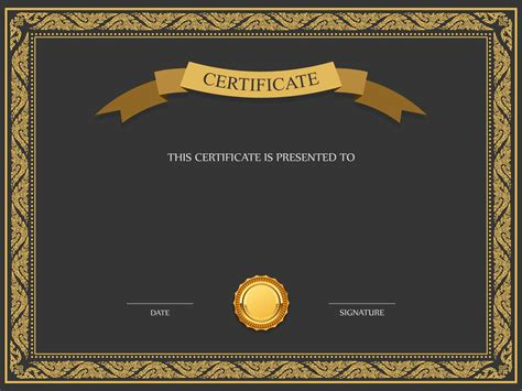 certificate template png image pngpix