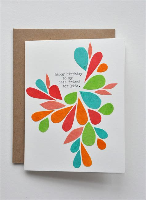 Simple Handmade Birthday Cards For Friends - happy birthday birthday card best friend handmade