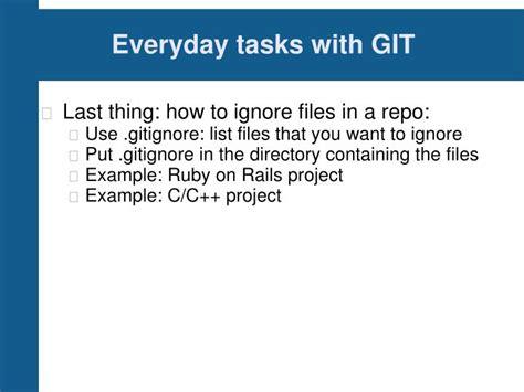 tutorial git bisect ppt git tutorial powerpoint presentation id 1229138