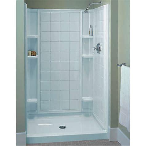 3 Bathtub Shower Unit Sterling Ensemble White Vikrell 3 Alcove Shower