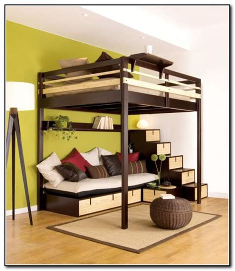 bed frame with desk loft beds for adults with desk pixshark com images