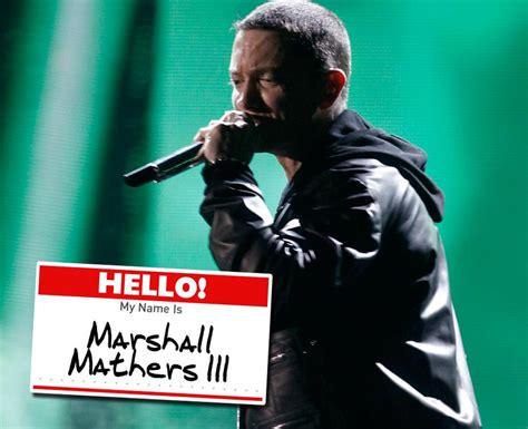 eminem real name what is eminem s real name pop stars real names 52