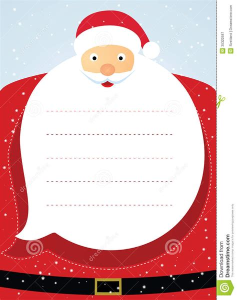 free santa card templates santa claus card stock vector image 35322587