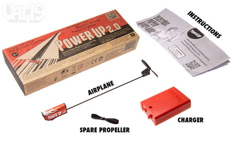 powerup electric power module for paper airplanes