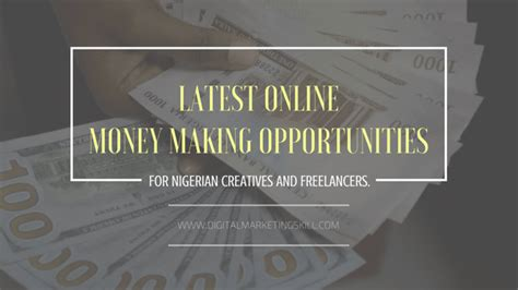 Online Money Making In Nigeria - latest online money making opportunities in nigeria