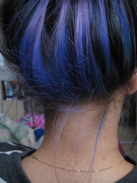 pictures of hair dark underneath 1000 ideas about blue hair highlights on pinterest