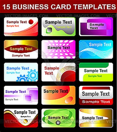 business card templates vector clipart