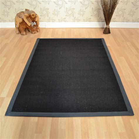 cheap black rugs uk sisal rugs in black grey free uk delivery the rug seller