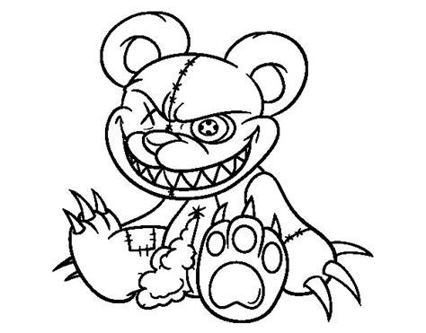 dibujos de fredy dibujo de osito monstruoso para colorear dibujos net